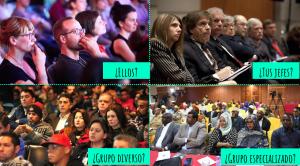 Tipos de audiencia diversos